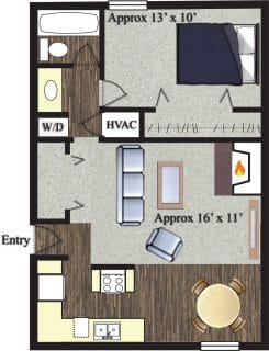 1 Bed / 1 Bath / 650 sq ft / Not Available Until: 11/15 / Rent: $895