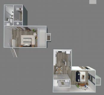 1 Bed / 1½ Bath / 900 sq ft / Rent: $975