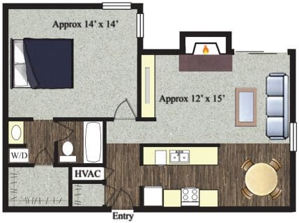 1 Bed / 1 Bath / 759 sq ft / Not Available Until: 11/15 / Rent: $935